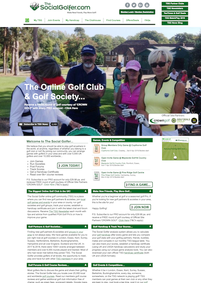 TheSocialGolfer screenshot